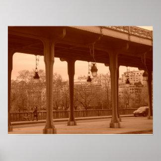 セピア色のパリ橋 ポスター
