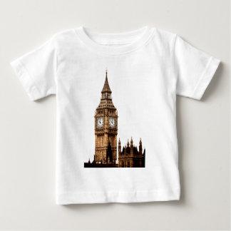 セピア色のビッグベンタワー ベビーTシャツ