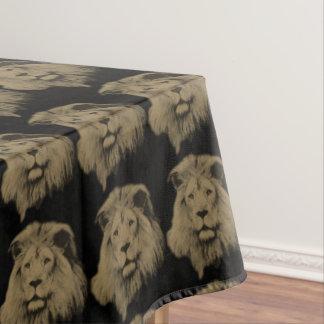 セピア色のライオン テーブルクロス