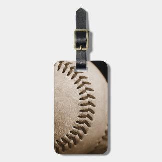 セピア色の荷物のラベルの野球 ラゲッジタグ