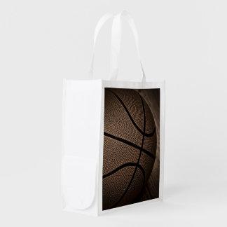 セピア色の調子のバスケットボール エコバッグ