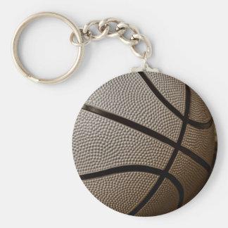 セピア色の調子のバスケットボール キーホルダー