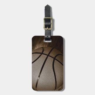 セピア色の調子のバスケットボール ラゲッジタグ
