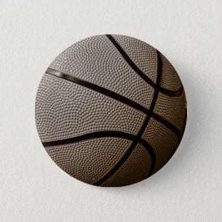 セピア色の調子のバスケットボール 5.7CM 丸型バッジ