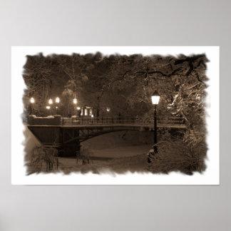 セピア色の調子の冬 ポスター