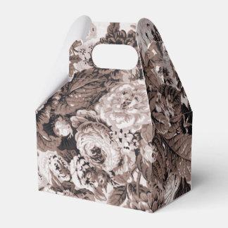 セピア色の調子ブラウン花のToile No.3 フェイバーボックス