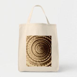 セピア色の貝殻の食料雑貨のトート トートバッグ