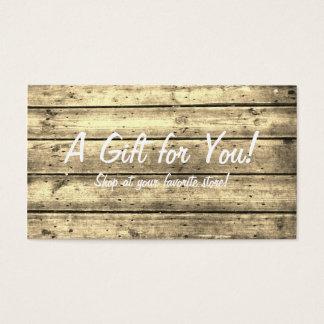 セピア色のPlankedのギフトカード 名刺