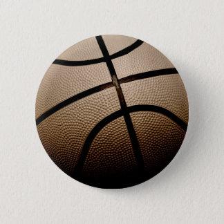 セピア色はクラシックなバスケットボールにある調子を与えました 5.7CM 丸型バッジ
