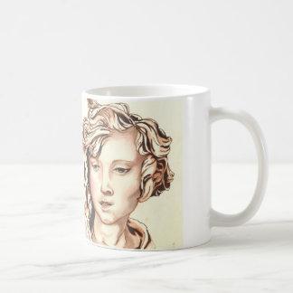 セピア色はマグの天使にある調子を与えました コーヒーマグカップ