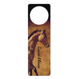 セピア色は素朴な馬の芸術にある調子を与えました ドアノブプレート