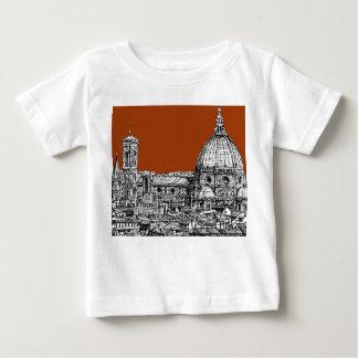 セピア色茶色のフィレンツェ ベビーTシャツ