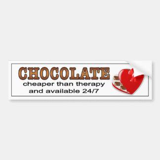 セラピーより安いチョコレート。  バンパーステッカー