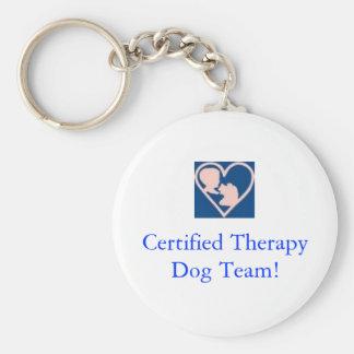 セラピー犬の基礎鍵の鎖 キーホルダー