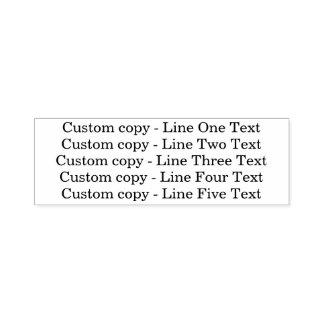 セリフの文字の伝統的でカスタムなビジネス5ライン セルフインキングスタンプ