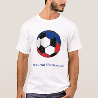 セルビアおよびモンテネグロのワールドカップのサッカーのTシャツ Tシャツ