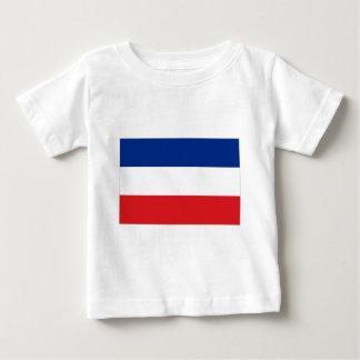 セルビアおよびモンテネグロの旗 ベビーTシャツ