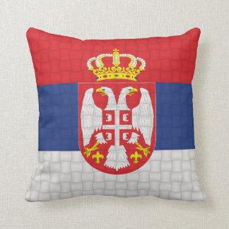 セルビアのセルビア人の旗 クッション