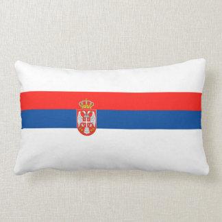 セルビアの国旗の国家の記号の名前の文字 ランバークッション