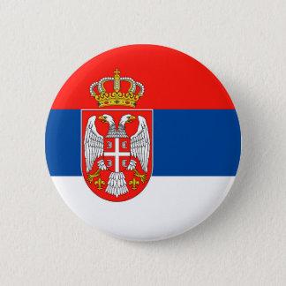セルビアの国旗の国家の記号の名前の文字 5.7CM 丸型バッジ
