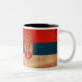 セルビアの旗のマグ ツートーンマグカップ