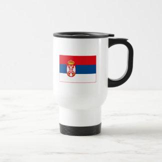 セルビアの旗の(軽い)マグ トラベルマグ