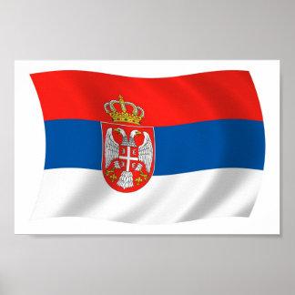 セルビアの旗ポスタープリント ポスター