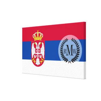 セルビアの旗 キャンバスプリント