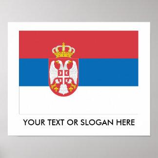 セルビアの旗 ポスター