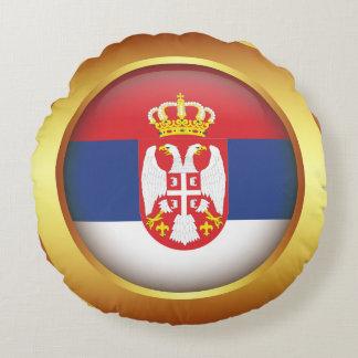 セルビアの旗 ラウンドクッション