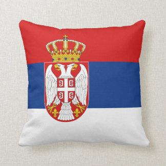 セルビアの旗Xの旗の枕 クッション