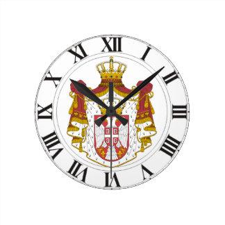 セルビアの紋章付き外衣 ラウンド壁時計
