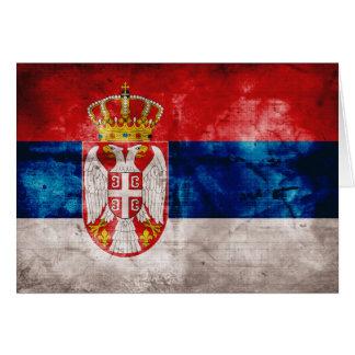 セルビアの風化させた旗 カード