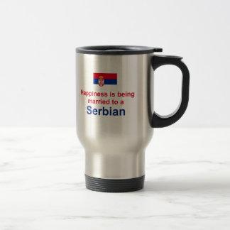 セルビア人に幸福に結婚した トラベルマグ