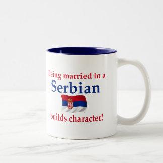 セルビア人はキャラクターを造ります ツートーンマグカップ