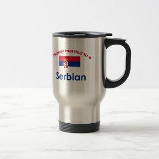 セルビア人2に幸福に結婚した トラベルマグ