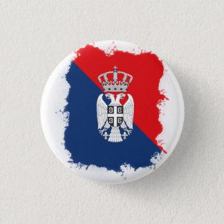 セルビア人Pin 3.2cm 丸型バッジ