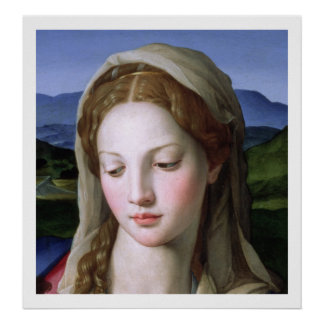 セントアンナを持つ神聖な家族および幼児聖ヨハネ ポスター