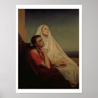 セントオーガスティンおよび彼の母St.モニカ1855年 ポスター