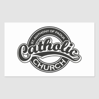 セントオーガスティンのカトリック教会の黒 長方形シール