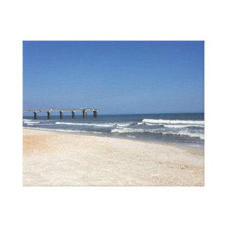 セントオーガスティンのビーチ、FL キャンバスプリント
