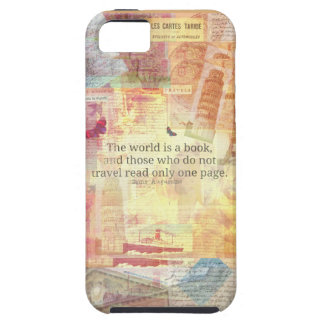 セントオーガスティンの世界は本旅行引用文です iPhone SE/5/5s ケース