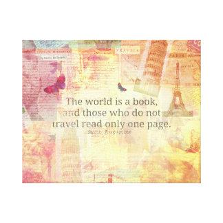 セントオーガスティンの世界は本旅行引用文の芸術です キャンバスプリント