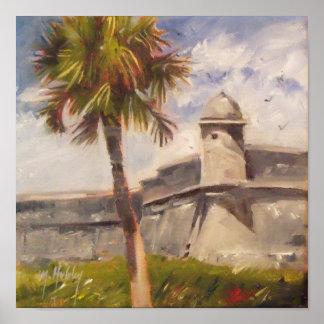 セントオーガスティンの城砦- Castillo de San Marcos ポスター
