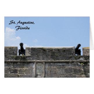 セントオーガスティンフロリダの城砦のcastillo de San Marcos カード