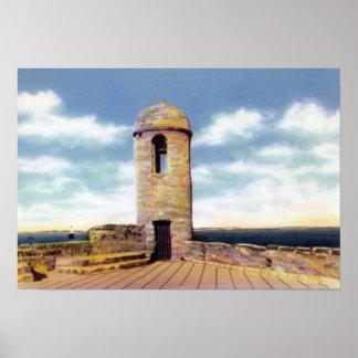 セントオーガスティンフロリダの望楼 ポスター
