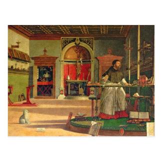 セントオーガスティン1502-08年の視野(キャンバスの油) ( ポストカード