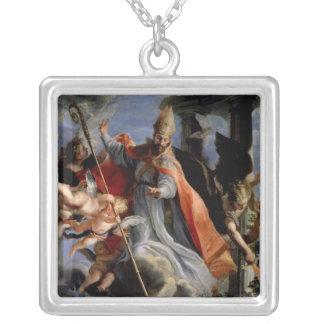 セントオーガスティン1664年の勝利 シルバープレートネックレス