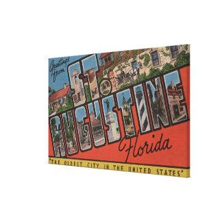 セントオーガスティン、フロリダ-大きい手紙場面2 キャンバスプリント