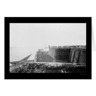 セントオーガスティン、FL 1864年の城砦マリオン カード